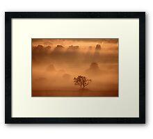 Dawn, Whispered the Mist Framed Print