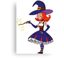 pretty witch. Canvas Print