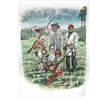 French Troops at the Battle of Quebec 1759 Poster