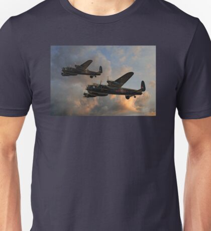 BBMF and Canadian Warplane Heritage Museum Lancasters Unisex T-Shirt