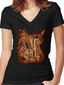 The Dragon Women's Fitted V-Neck T-Shirt