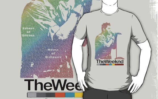 The Weeknd Typography - with colour by Kuilz