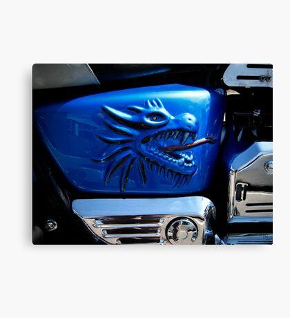 Harley's dragon gas tank Canvas Print