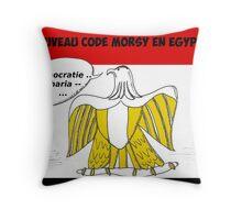 News options binaires le nouveau code MORSY en egypte Throw Pillow
