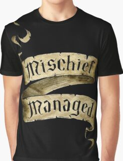 Mischief Managed Banner Graphic T-Shirt
