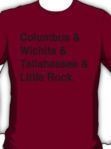 Zombieland Characters [Black Text] T-Shirt