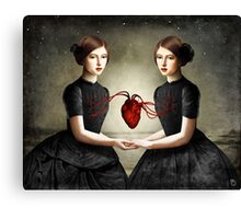 Twin Heart Canvas Print