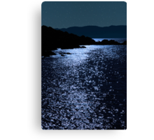 tranquil rocky kerry starry night view Canvas Print