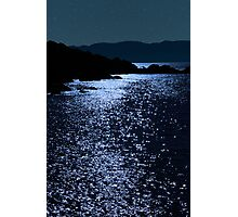 tranquil rocky kerry starry night view Photographic Print