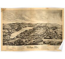 Panoramic Maps Wilton Me Poster