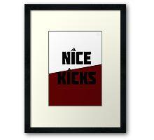 Nice Kicks Framed Print