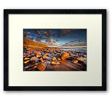 Last Sun on The Braighe Framed Print