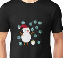 Snowman and Penguin Unisex T-Shirt