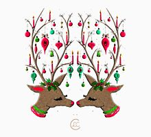 """""""Mid-Century Ornamented Reindeer""""© Womens Fitted T-Shirt"""