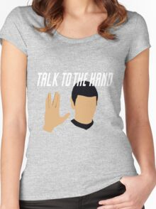 Talk to the Vulcan Hand Women's Fitted Scoop T-Shirt