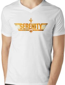 Top Serenity (Orange-Gold) Mens V-Neck T-Shirt