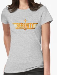 Top Serenity (Orange-Gold) Womens Fitted T-Shirt