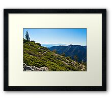 Mt. Baldy - Blue Cloud Layer Framed Print