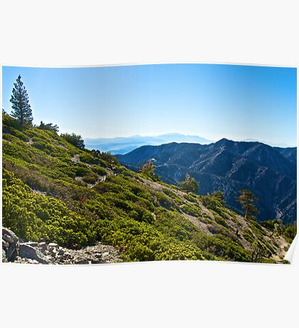 Mt. Baldy - Blue Cloud Layer Poster
