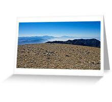 Mountain Top Blues Greeting Card