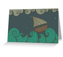 A Rainy Day at the Sea Greeting Card