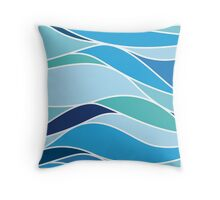 NW Blue Ocean Throw Pillow