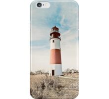 Sankaty Head Lighthouse on the island of Nantucket MA iPhone Case/Skin