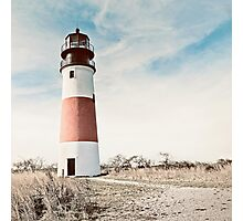 Sankaty Head Lighthouse on the island of Nantucket MA Photographic Print