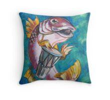 Drummer Fish Throw Pillow
