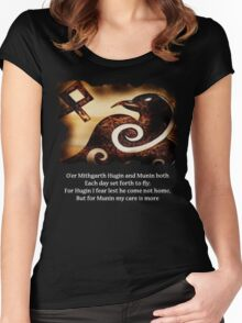 Odin's Raven Muninn Women's Fitted Scoop T-Shirt