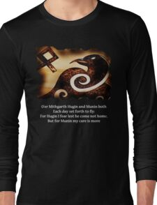 Odin's Raven Muninn Long Sleeve T-Shirt