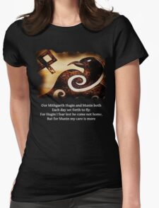Odin's Raven Muninn Womens Fitted T-Shirt