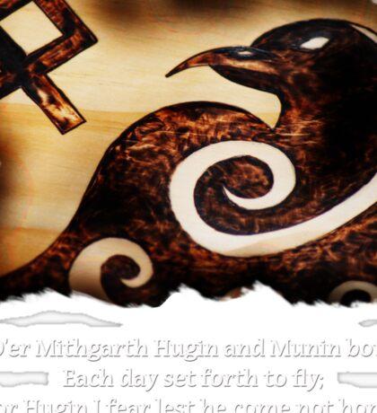 Odin's Raven Muninn Sticker