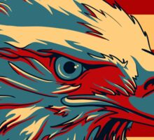 American Patriotic Eagle Bald Sticker