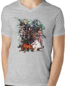 Final Fantasy VII - Collage Mens V-Neck T-Shirt