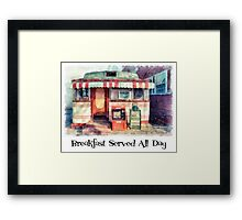 Breakfast All Day Diner Framed Print