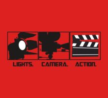Lights.Camera.Action. Movie Maker T-Shirt One Piece - Short Sleeve