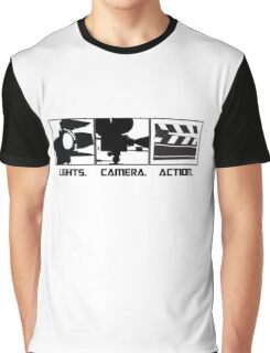 Lights.Camera.Action. Movie Maker T-Shirt Graphic T-Shirt