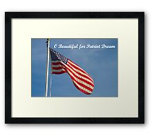 American Flag Patriot Dream  Framed Print
