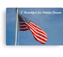 American Flag Patriot Dream  Canvas Print