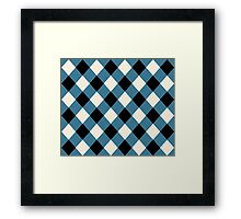 blue and black square Framed Print