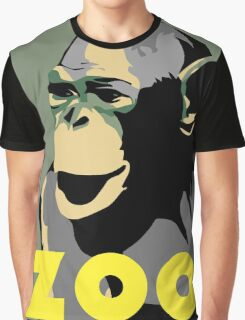 Retro Zoo Berlin monkey travel advertising Graphic T-Shirt