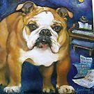 Bulldog Frankie Sinatra by Barbara Sparhawk