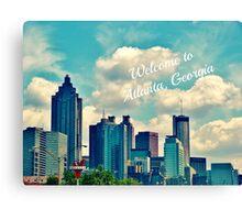 Welcome to Atlanta, Georgia Canvas Print