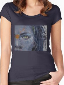 Grey Women's Fitted Scoop T-Shirt