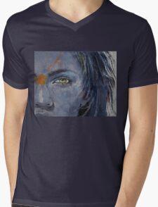 Grey Mens V-Neck T-Shirt