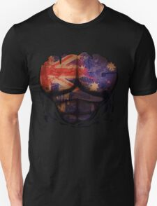 Australian  Flag  Body Muscles  Ripped Funny Patriotic T-Shirt T-Shirt