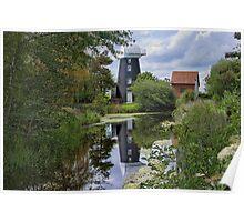 Norton Marsh Mill, Norfolk Poster