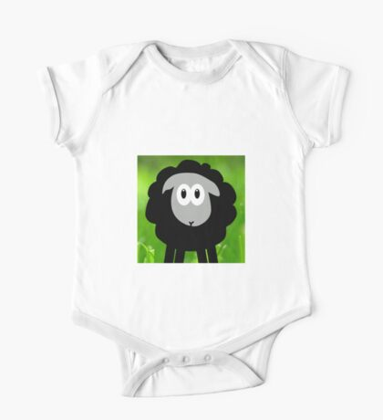 Sheep in the Grass One Piece - Short Sleeve