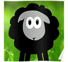 Sheep in the Grass Poster